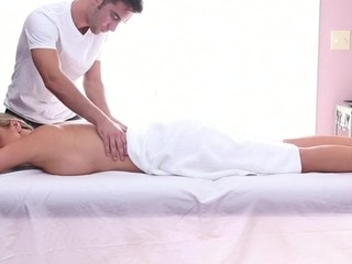 Sweet honey gets her sexy horde massage and drilled