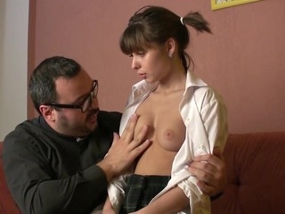 Father Torbe is back and this day this chab's taking care be proper of Julia Sweet. This cute Russian gal came to our beloved priest 'coz this babe has sinned. What's more excellent to cop-out her then shooting a load be proper of cum down her mouth'!