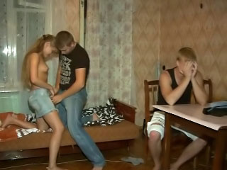 Hot amateur tow-haired girl gets screwed by dirty snobbish lady's man