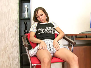 Hot and lonesome minor blonde masturbates pussy heavens the couch