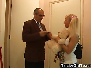 Fuck-hungry aged chap having fun with legal age teenager hotty Connie. This Guy feasts her soaked cunt with great admire.