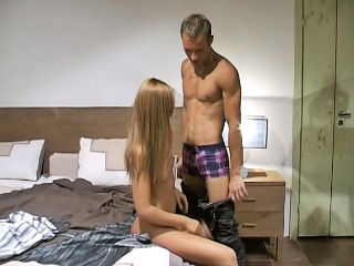 Smart haired peaches pamper strokes and sucks heavy white dick