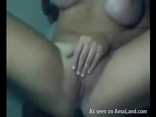 Lesbo hotty stuffs cunt of her girlfriend by unsparing ding-dong