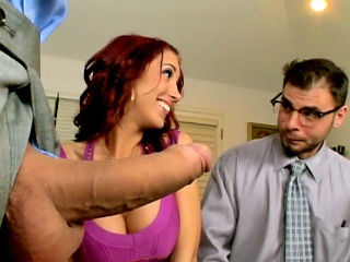 Redhead minor gets cock blasted doggie style on get under one's divan