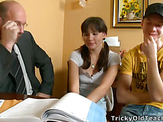 Lorraine coupled with will not hear of classmate took supplementary classes coupled with their teacher involved 'em in his kinky games.