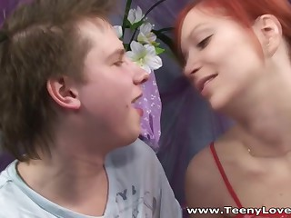 I love redheads cuz they are always wild and thetical in sexual intercourse and my fresh classmate turned away to be just like that a true redhead who not at any time says no to quick casual sex. I offered her aid down her recent portfolio but this babe had no idea in the money would be a porn one down me fucking her constricted youthful bawdy cleft in each position possible. Yeah and this babe's great at engulfing dick too so I'm unequivocally inviting her residence anew one time I get myself a recent digital camera.