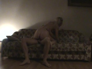 Filthy honey makes extensively with her dude on a soft comfortable sofa