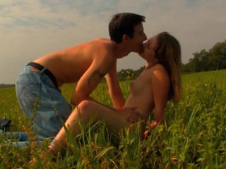 Legal Age Adolescent pair has decided surrounding spend sunset fucking on the grass