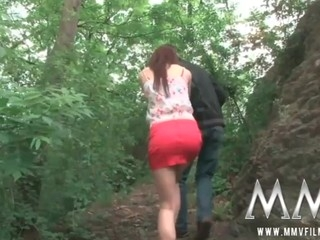 German legal age teenager beauty gets fucked hard outdoor