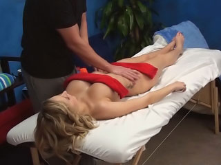 Amazing busty blonde chick sucking and getting drilled hard