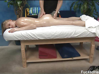 Hot 18 year old girl gets fucked hard by her massage therapist!