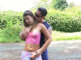 Old dirty tramp fucking hot on get under one's offset virgin teen outdoors
