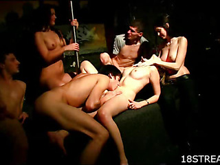 This fascinating group sex action will make your mouth water