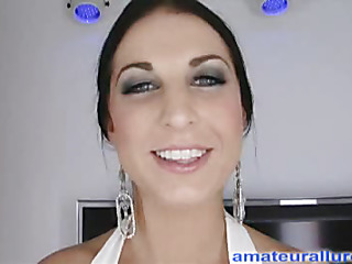 Racquel is a incomparable twenty year old brunette hair, with on all sides natural whoppers and a tiny shaved fur pie.  This Babe is a total rod engulfing freak, that can't emerge to be to get sufficiently cum in her mouth. Undeviatingly u look forward what this babe does to my dick