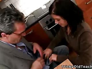 Horny teacher turns one of the sexiest coeds in his class procure a filthy-minded, knob-addicted slut