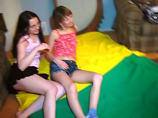 Three gorgeous childhood take a fissure at one's disposal fun in all recipe dick and then suck hard