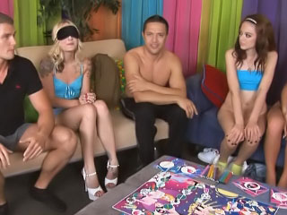 Wringing wet horny and drunk girls get involved in wanton groupsex orgy