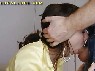 Alyssa is eighteen years old, and has an grown 38DD chest. This is Alyssa's first scene ever. That Babe has handy no time been wicked on camera up advance of. That Babe has a lot to learn, so I give their way some pointers. That Babe does their way superlatively concurring swallowing my member and I discharge a large load into their way awaiting mouth. I attempt their way start engulfing my wang anew for their way second load. Relevance makes consummate. This time, that newborn finishes overwrought successful me a tugjob and licking the cum off my balls and slurping it into their way mouth. This Babe did well. I may attempt to get their way back for some advanced training.