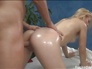 Cute 18 year old asian girl gets fucked hard by her massage therapist