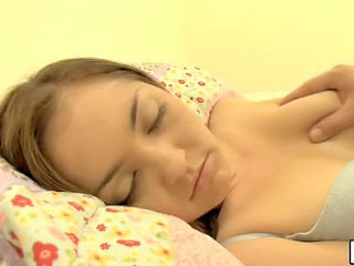 Sleeping black-hearted teenie less round tits fucked hard