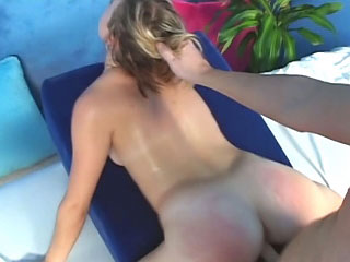 Sexy blonde babe shows her wet make away and wants to fuck