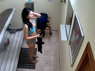 Here is the first hidden camera in solarium!! U havent seen this in advance of! We breached into the privacy of Czech beauty. Real stiffness from a spy camera in solarium!