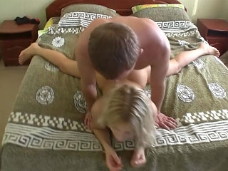 Chick with nice round exasperation getting gaped deep by nasty man