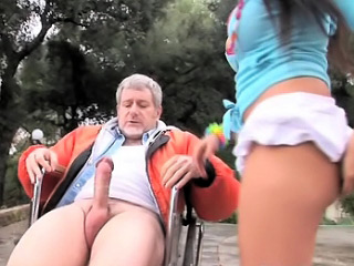 Old man gaping awesome overcast maturing fro her dear tight pussy