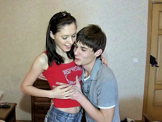 Brunette busty minor sucking together with acquiring fucked wits huge weasel words