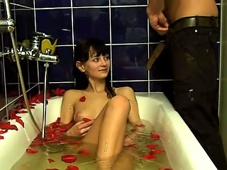 Amazing amateur subfuscous sucking increased at the end of one's tether getting gaped fast