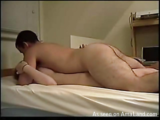 Guy pushes dick in mouth of hotty after banging her anal hole