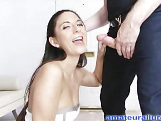Jackie is an aggressive hard body playgirl that can't live without to engulf ramrod and swallow cum. That Babe wastes no time, and gets on her knees and starts engulfing. Thomas bonks her taut little snatch hard from behind as this babe entreats be worthwhile for it ha