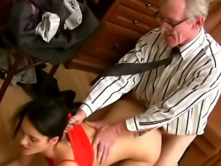 Edited perky tit brunette hottie sucks together with fucks a immutable dick