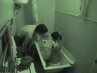 Skinny foetus adores sex indoors and gets nailed in baths