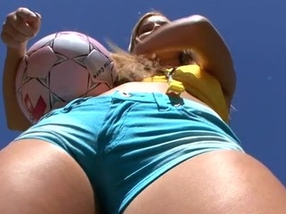 Lovely chick is moaning wildly during doggystyle schooling