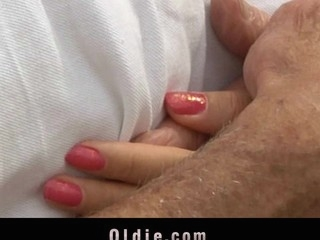 Oldman has to get energized for the morning so his beautiful sexy playgirl takes care that guy is always strong. So, the spread out course for the older is hers youthful and wet cunt ready to be licked. Next is her horny booty who is unfathomable analfucked by the already strenghten old large dick