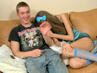 Superb teen possessions fucked hard and pretty cumshot