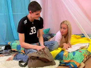 Incomparable blonde teen object gaped hard by big cock