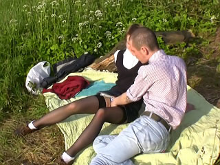 Titillating pretty good getting anal fucked relative to her parsimonious ass outdoors