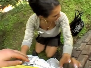 Hot pretty girl gets screwed and cummed outdoors by dirty suppliant