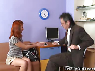 Legal Age Teenager beauty forgot the brush sex toy at hand get under one's book and when the brush instructor found it this guy asked the brush to play back it right at hand his office.