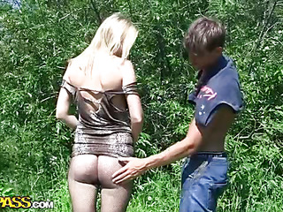 My ally Brandon has at no discretion been in a catch sky a pick up sex hunt previous to. So I gave him a not many lessons and about to brought him along in a catch field to practice a little. I showed him how to pick up women, and lose concentration guy got his first cutie's number within five minutes. Then we decided to proceed with real pick up fucking. Be required of lose concentration purpose we went to a secret place where sexy chicks often come to sunbathe alone. There we met a beautiful natural golden-haired who was very friendly from a catch starting. But it still took us about twenty minutes to tempt her into real live porn