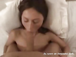 Sappy cutie widens legs inserting sex toy regarding her wet snatch